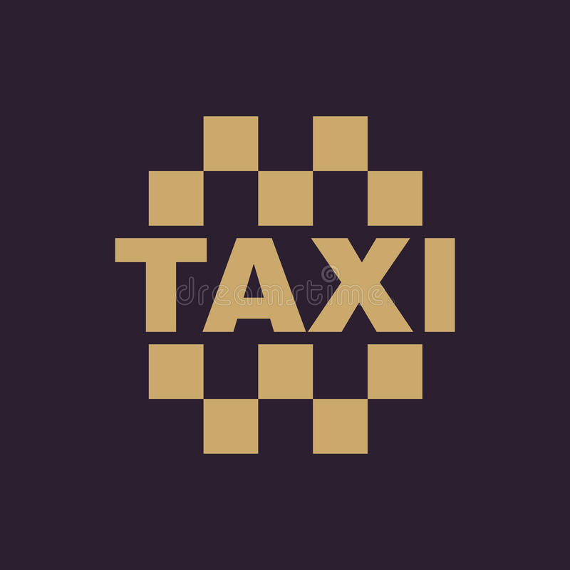 The taxi icon. Cab and taxicab symbol. Flat. Vector illustration royalty free illustration