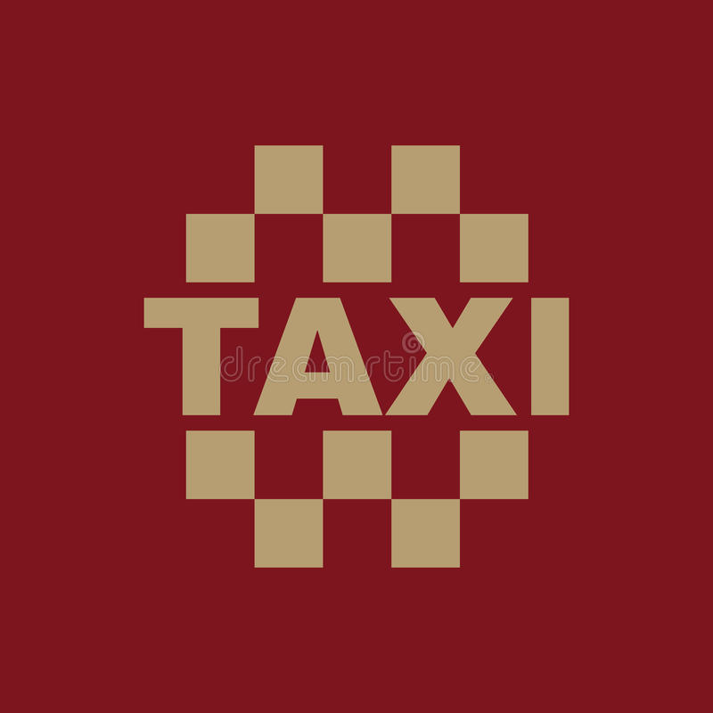 The taxi icon. Cab and taxicab symbol. Flat. Vector illustration stock illustration