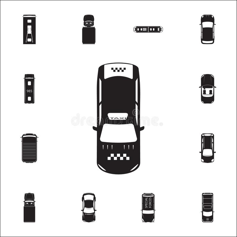 Taxi icon. Detailed set of Transport view from above icons. Premium quality graphic design sign. One of the collection icons for w. Ebsites, web design, mobile vector illustration