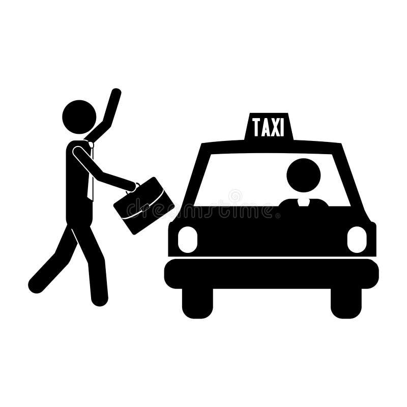 Taxi icon image. Man pictogram taxi icon image vector illustration design stock illustration