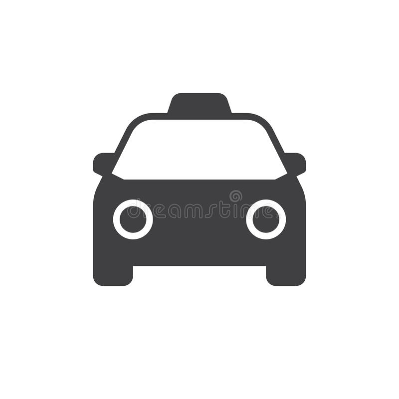 Taxi icon vector. Filled flat sign, solid pictogram isolated on white. Symbol, logo illustration. Pixel perfect vector graphics vector illustration