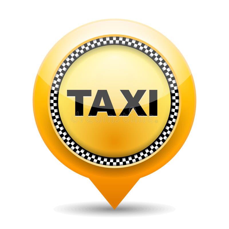 Taxi Icon. On white background royalty free illustration