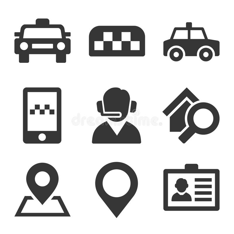 Taxi Icons Set vector illustration