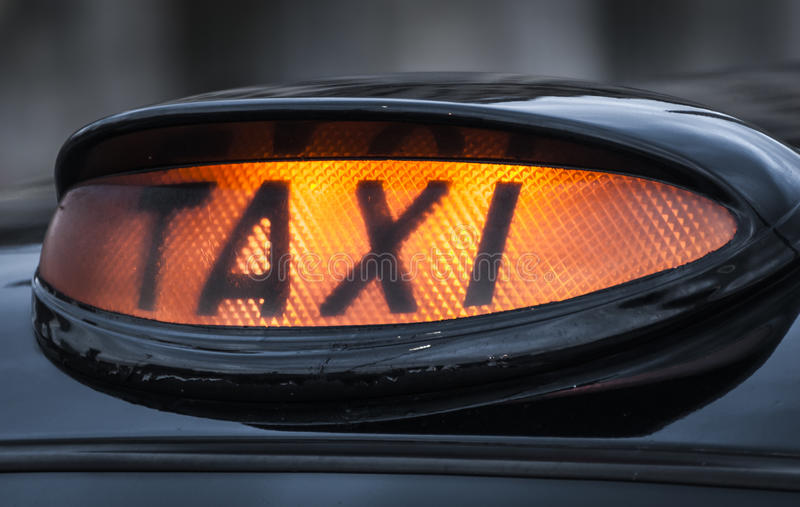 Download Taxi stock image. Image of night, advertising, sign, yellow - 30907041