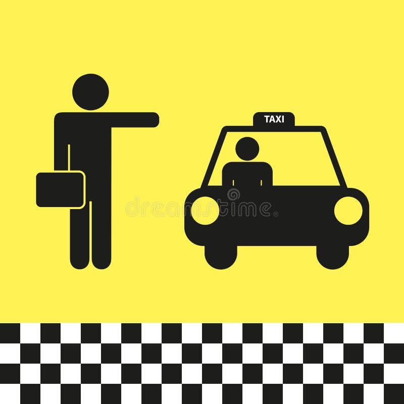 Taxi illusraton royalty-vrije illustratie