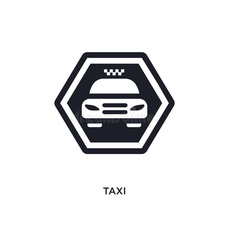 taxi isolerad symbol enkel beståndsdelillustration från teckenbegreppssymboler för logotecken för taxi redigerbar design för symb stock illustrationer