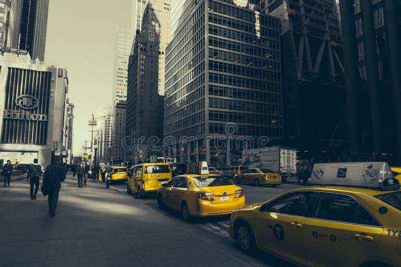 Taxi jaune à New York photo libre de droits