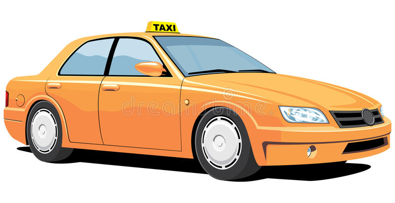 Taxi jaune illustration stock
