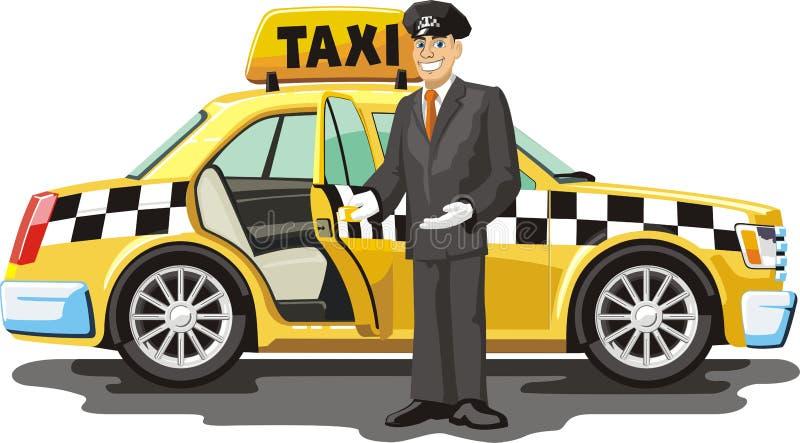Taxi jaune illustration libre de droits