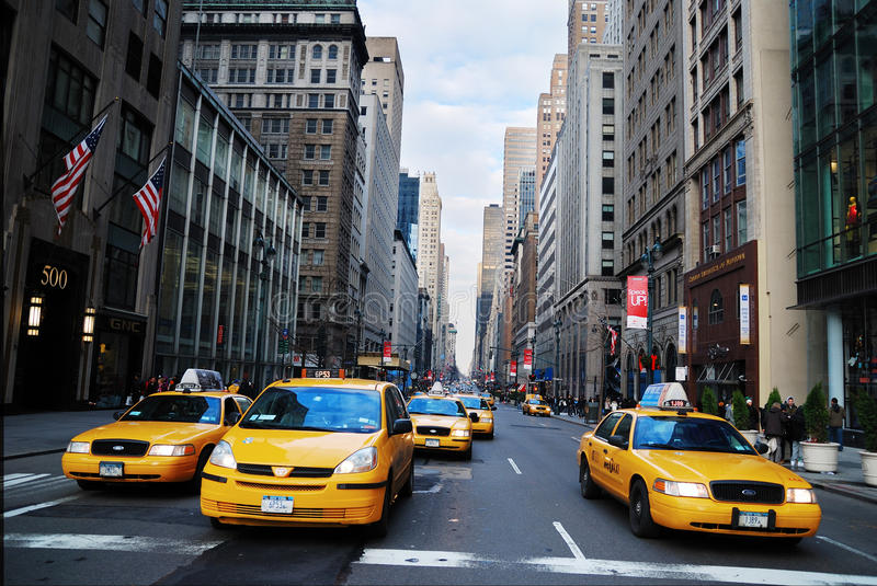 Taxi jaune de taxi de New York City photos libres de droits