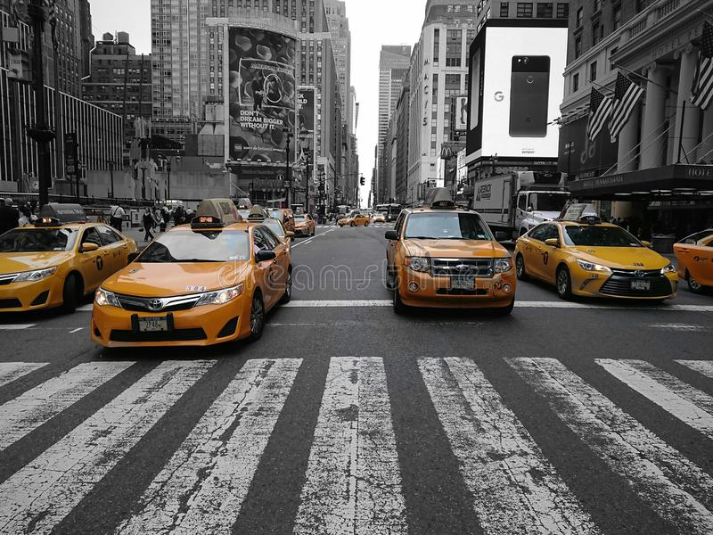 Taxi jaune, New York City images stock