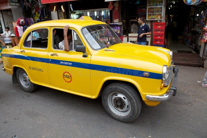 Taxi in Kolkata, India royalty-vrije stock fotografie