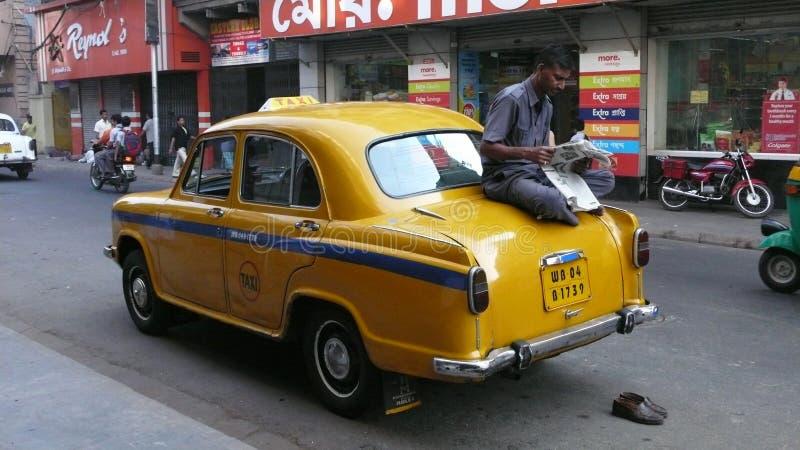 Taxi. Kolkata. Indien stockfoto