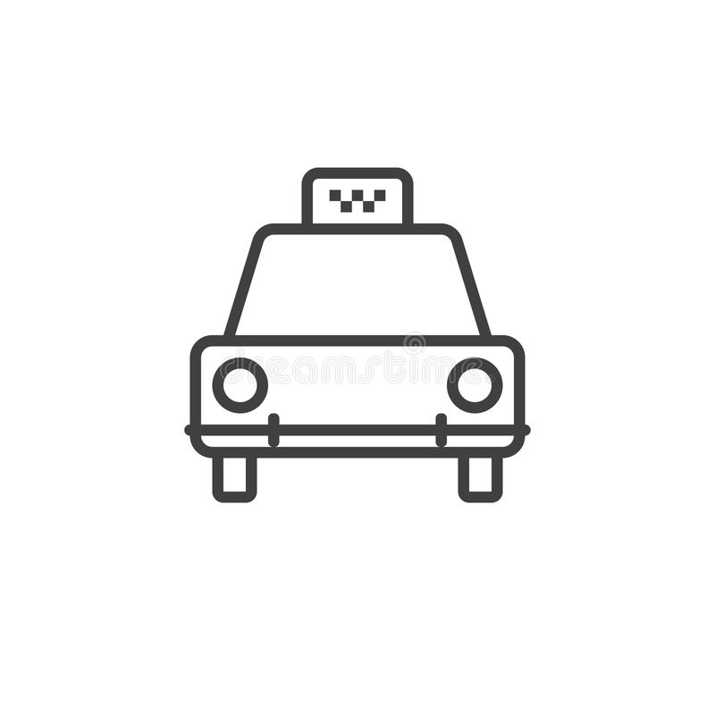 Taxi line icon, outline logo illustration, linear pictogr stock illustration