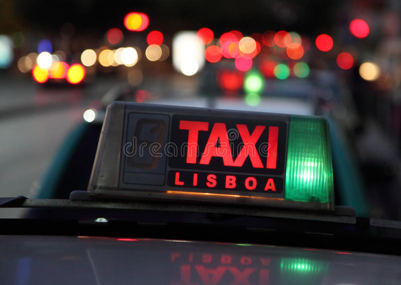 Taxi in Lissabon stock fotografie