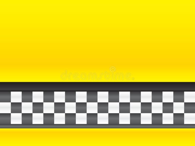 Taxi a listra ilustração do vetor