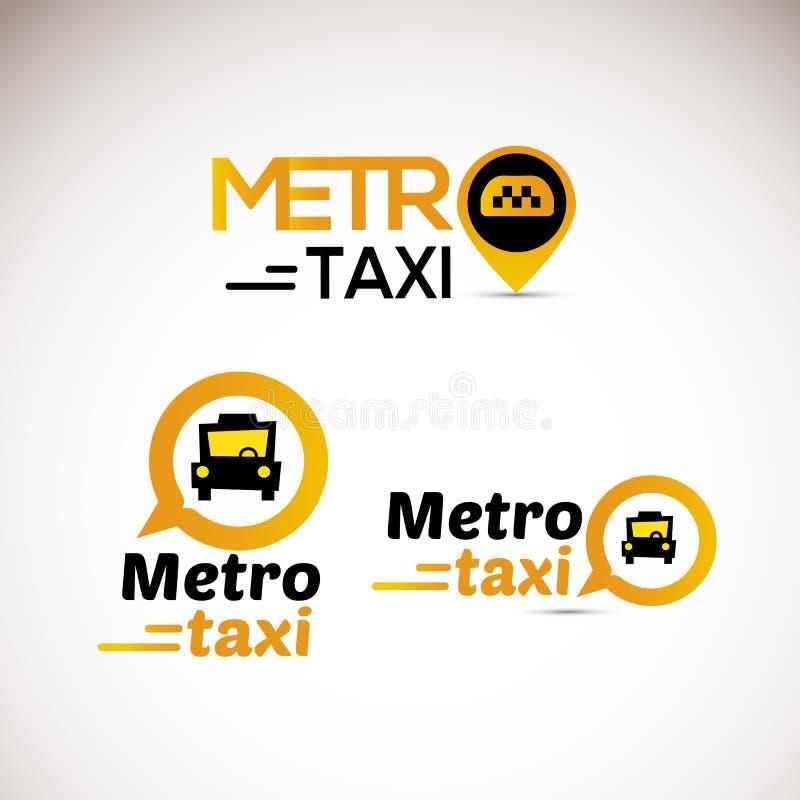 Taxi loga ikona podaniowa ikona - ilustracja wektor