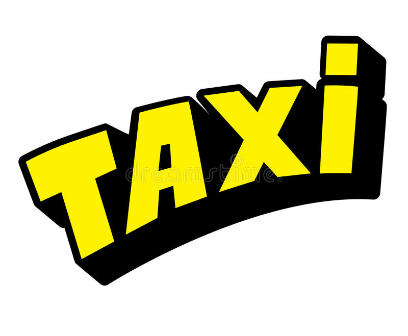 Taxi logo. Yellow with black logo taxi royalty free illustration
