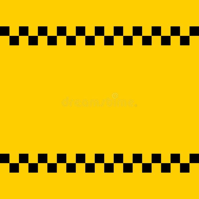 Taxi logo egzamin próbny w górę dodaje twój tekst ilustracja wektor