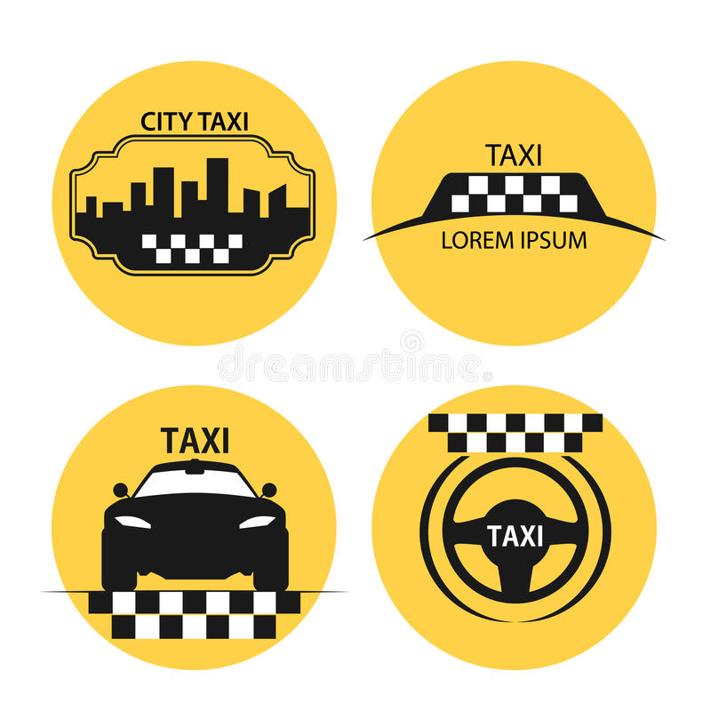 Taxi logo vector. Logos for taxis, taxi icons for the design of booklets and advertising vector illustration