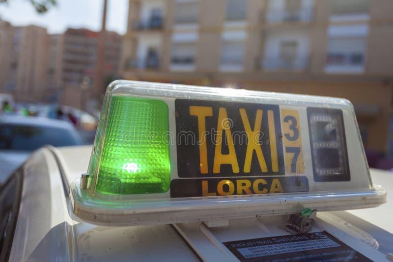 Taxi a Lorca, Spagna immagine stock