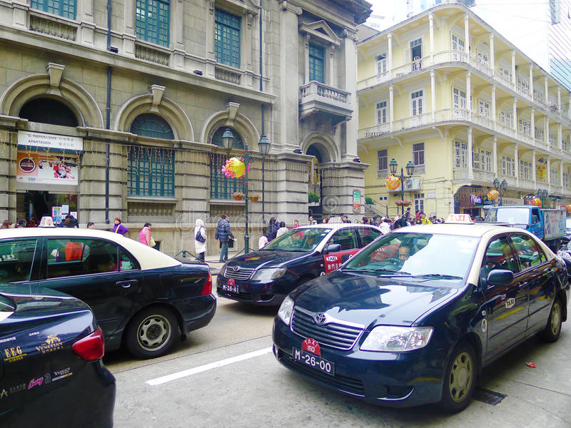 Taxi In Macao Editorial Photography
