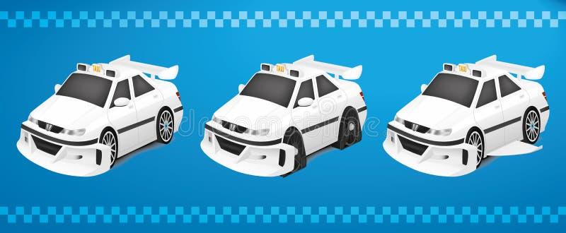 Taxi Marseille 3 dans 1 image stock