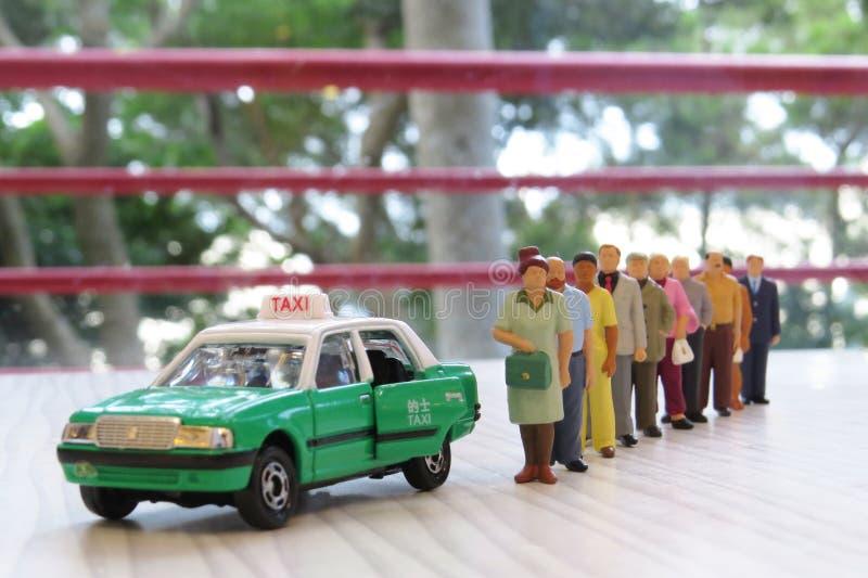 Taxi modelo en Hong-Kong imagen de archivo libre de regalías