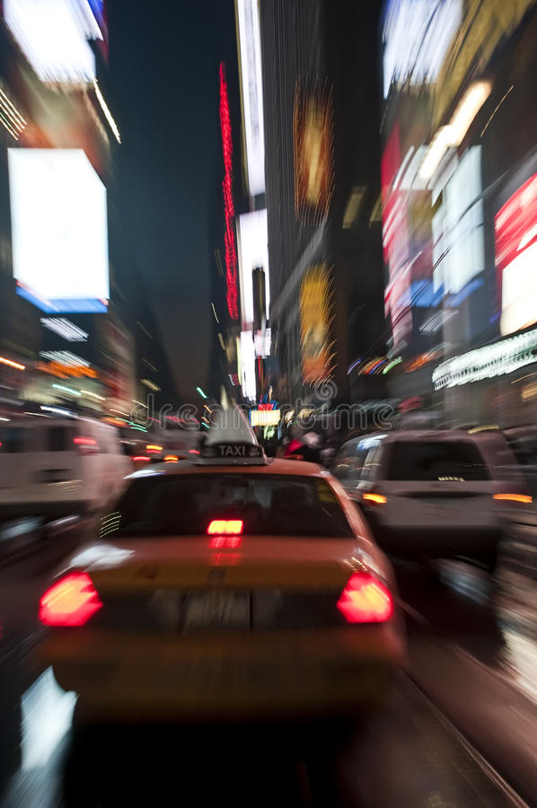 Taxi in New York City stock images