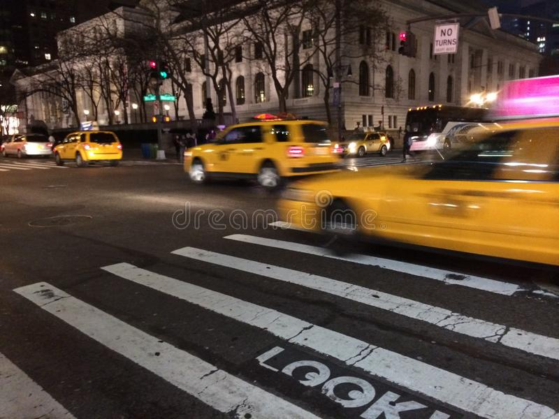 Taxi NYC stock foto's