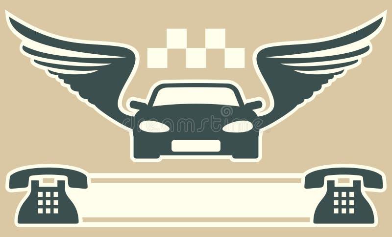 Taxi o cartão ilustração royalty free