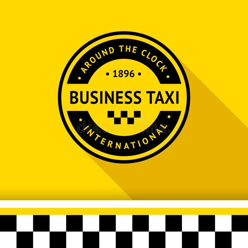 Taxi odznaka 15 ilustracja wektor