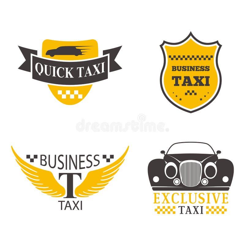 Taxi odznaki wektoru ilustracja ilustracja wektor