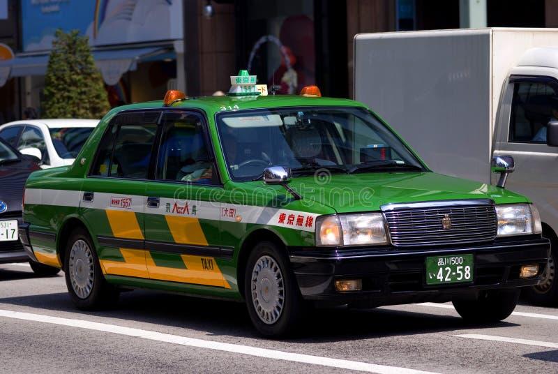 Taxi op Ginza, Tokyo, Japan stock foto
