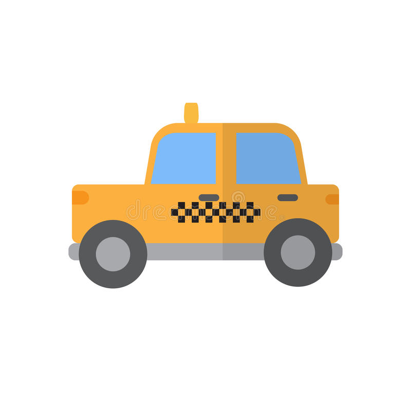 Taxi płaska ikona, wypełniający wektoru znak, kolorowy piktogram odizolowywający na bielu ilustracja wektor