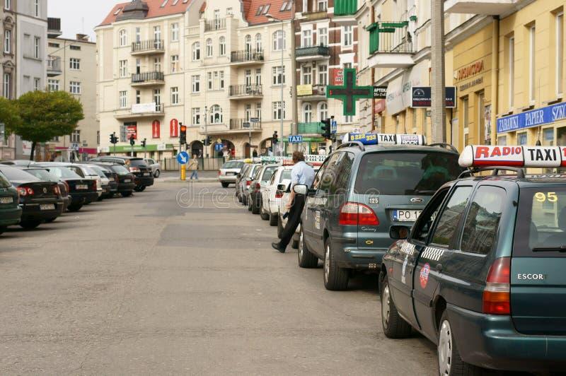 Taxi parcheggiati fotografie stock libere da diritti
