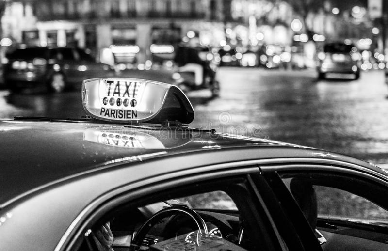 Taxi in Paris stockfotografie