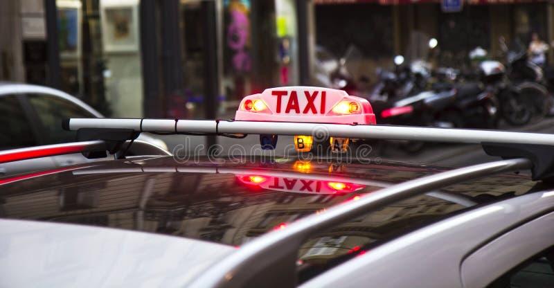 Taxi Parisien image libre de droits