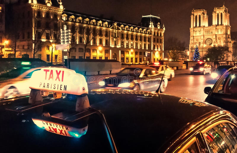 Download Taxi Parisien editorial photography. Image of europe - 48030687