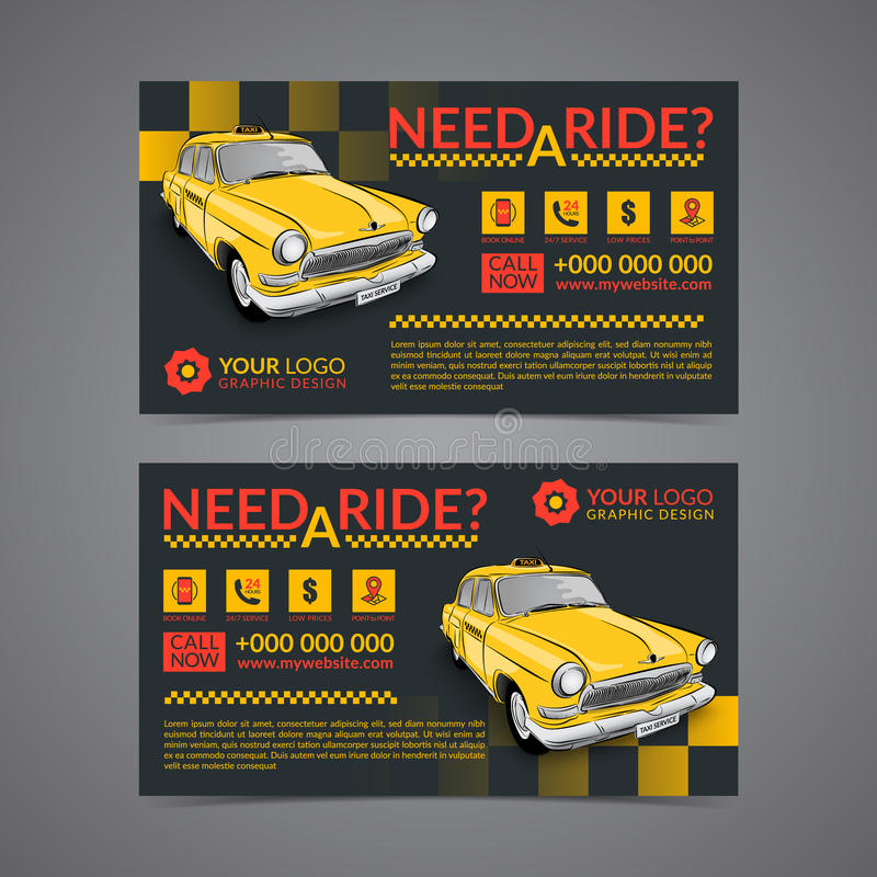 Taxi pickup service business card layout template. Create your own business cards. Mockup Vector illustration vector illustration