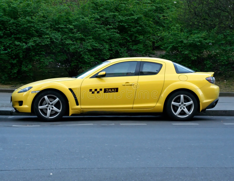 Taxi racer stock photo