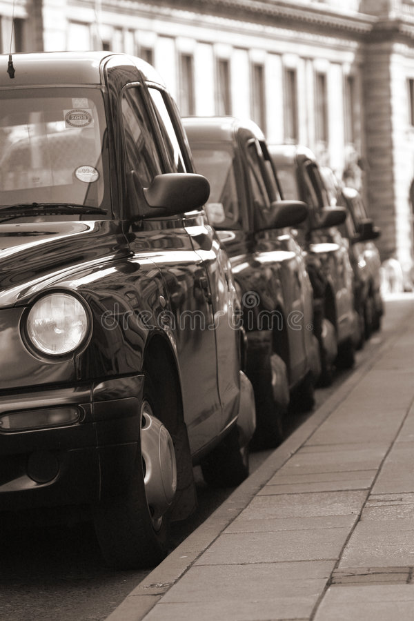 Download Taxi Rank stock image. Image of black, drive, white, rank - 4053607
