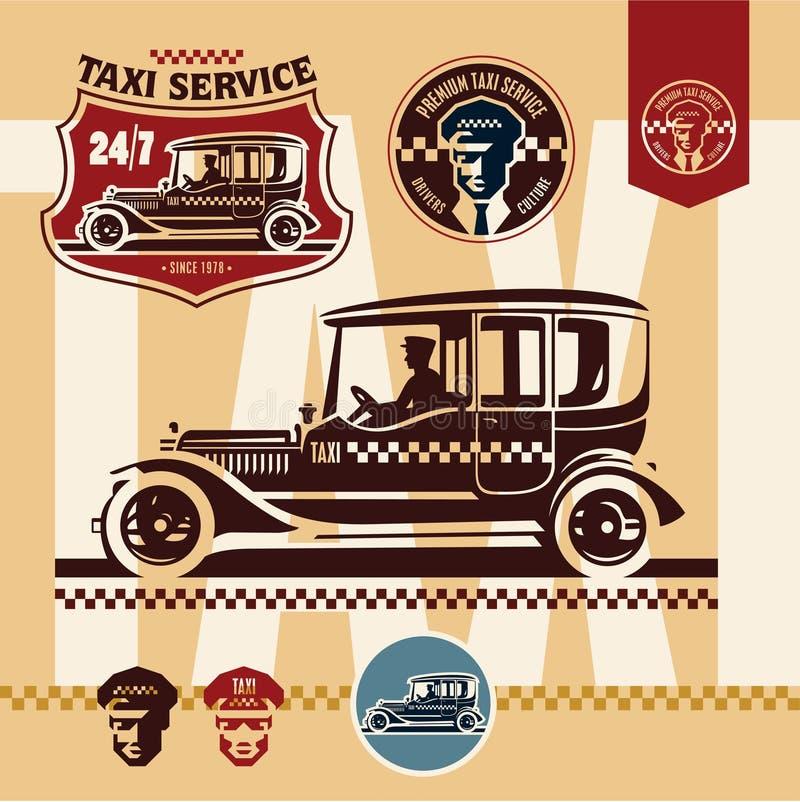 taxi Rocznika taxi ilustracji