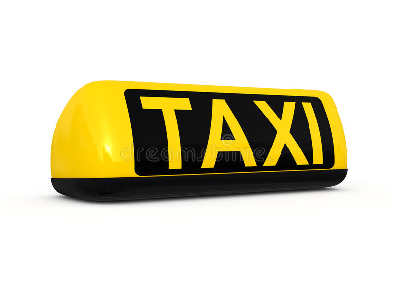 Taxi roof sign stock illustration
