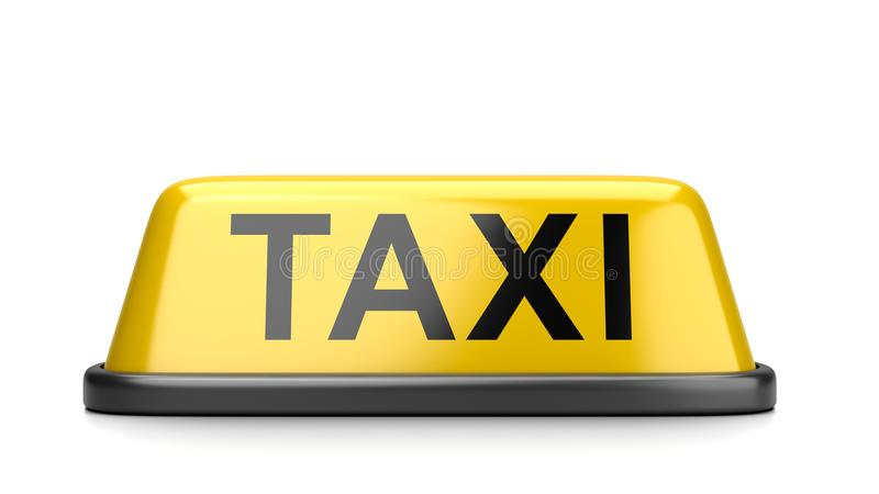 Taxi Roof Signboard vector illustration