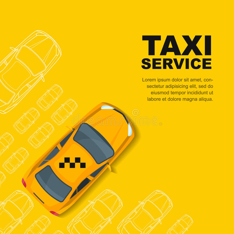 Taxi service concept. Vector banner, poster or flyer background template. vector illustration