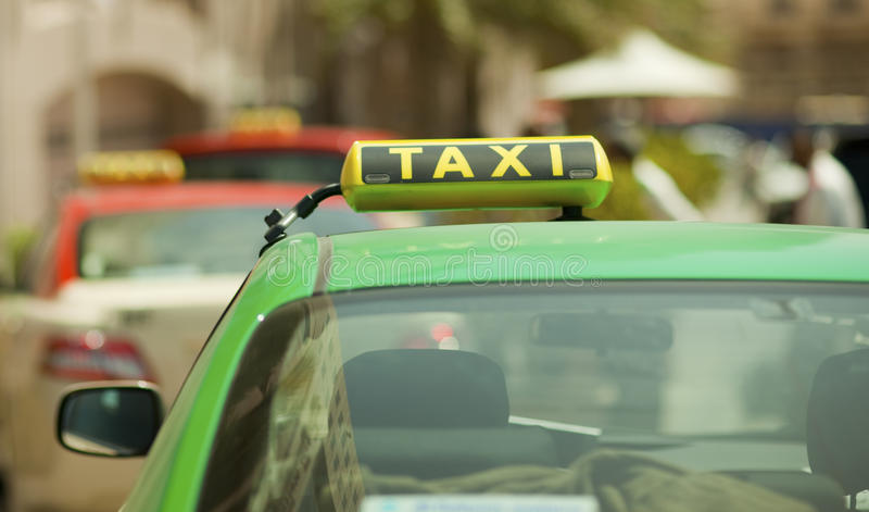 Taxi sign stock images