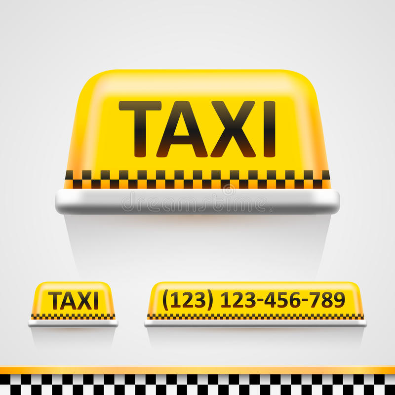 Taxi sign royalty free illustration