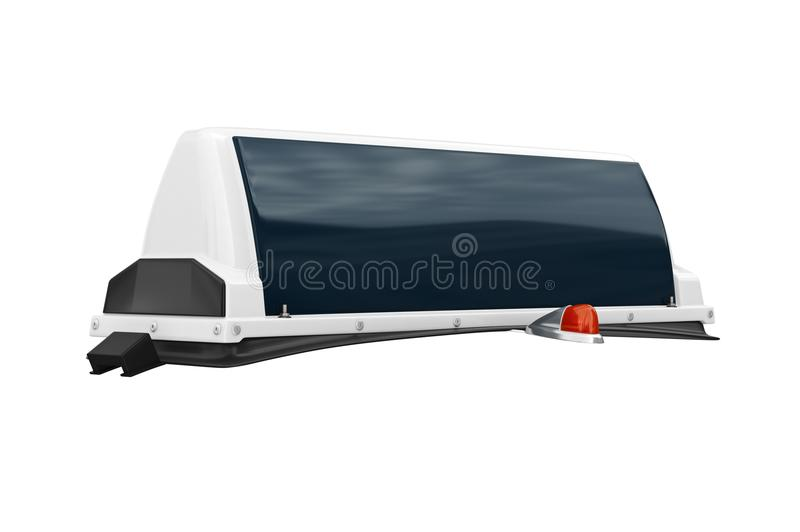 Taxi sign cab big. Glossy. 3D rendering stock illustration