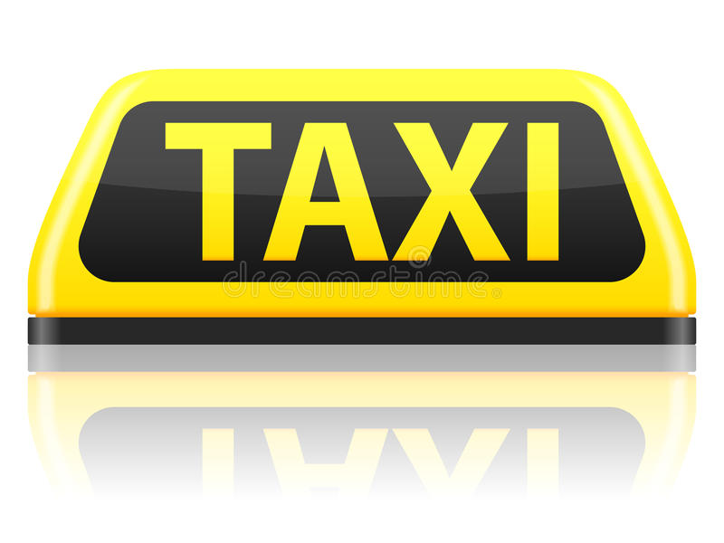 Taxi sign. On a white background royalty free illustration